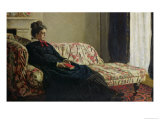 Meditation, or Madame Monet on the Sofa, circa 1871 Impressão giclée por Claude Monet
