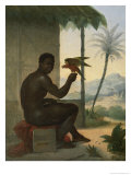 Brazilian Negro with Tropical Bird Giclee Print by Nicolas Antoine Taunay