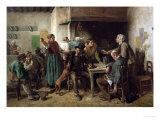 Wine Shop Monday, 1858 Reproduction giclée Premium par Jules Breton