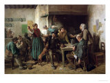 Wine Shop Monday, 1858 Giclee Print by Jules Breton