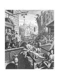 La calle de la ginebra, 1751 Lámina giclée por William Hogarth