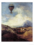 The Balloon Or, the Ascent of the Montgolfier Giclee Print by Francisco de Goya