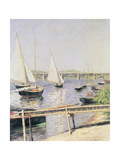 Sailing Boats at Argenteuil, circa 1888 Giclee Print by Gustave Caillebotte