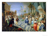 A Ball on the Terrace of a Palace Premium Giclee Print by Hieronymus Janssens