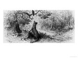 """The Crow and the Fox, from """"Fables"""" by Jean de La Fontaine Reproduction procédé giclée par Gustave Doré"""