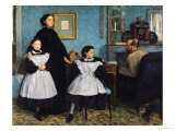 The Bellelli Family, 1858-67 Giclee Print by Edgar Degas