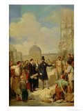 Study for Napoleon III Visiting the Works at the Louvre, 1854 Giclee Print by Nicolas Louis Francois Gosse