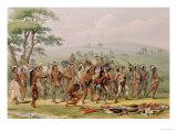 Mandan Archery Contest, circa 1832 Giclee Print by George Catlin