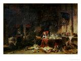 Interior of an Alchemist's Study Premium Giclee Print by Louis Eugene Gabriel Isabey