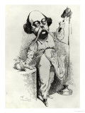 "Gustave Flaubert Dissecting Madame Bovary, Illustration from ""Parodie"", December 1869 Giclee Print by J. Lemot"