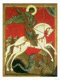 Icon of St. George and the Dragon Giclee Print