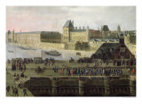 View of the Pont-Neuf and the River Seine Looking Downstream, Detail of the Bridge and the Louvre Giclee Print