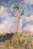 Woman with Parasol Turned to the Left, 1886 Impressão giclée por Claude Monet