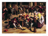 Feast in an Inn, Detail of the Central Group, 1674 Giclee Print by Jan Havicksz. Steen