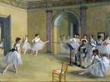 The Dance Foyer at the Opera on the Rue Le Peletier, 1872 Lámina giclée por Edgar Degas