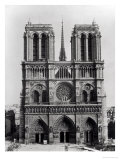 Facade of Notre-Dame, Paris, Late 19th Century Premium Giclee Print by Adolphe Giraudon