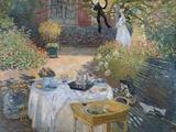 Claude Monet - The Luncheon: Monet's Garden at Argenteuil, circa 1873 - Giclee Baskı