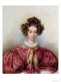 Portrait of George Sand 1830 Lámina giclée por Candide Blaize
