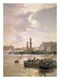 Stock Exchange in St. Petersburg, 1891 Giclee Print by Aleksandr Karlovich Beggrov