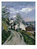 Doctor Gachet's House at Auvers, circa 1873 Giclee Print by Paul Cézanne