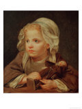 Girl with a Doll Giclee Print by Jean-Baptiste Greuze