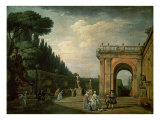 The Gardens of the Villa Ludovisi, Rome, 1749 Giclée-Druck von Claude Joseph Vernet