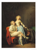 Couple with an Escaped Bird Giclee Print by Louis Leopold Boilly