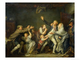 The Father's Curse or the Ungrateful Son, 1777 Giclee Print by Jean-Baptiste Greuze