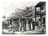 Slave Market in Martinique Giclee Print by Albert Schule