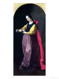 St. Agatha Giclee Print by Francisco de Zurbar&#225;n