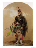 A Piper of the 79th Highlanders at Chobham Camp in 1853 Giclee Print by Eugene Louis Lami