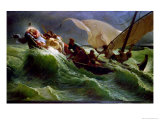 Christ Asleep in His Boat Giclee Print by Jules Jospeh Meynier