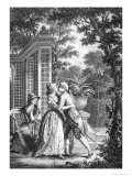 "The First Kiss of Love, Illustration from ""La Nouvelle Heloise"" by Jean-Jacques Rousseau Giclee Print by Nicolas Andre Monsiau"