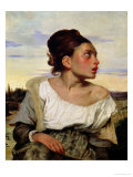 Young Orphan in the Cemetery, 1824 Gicl&#233;e-Druck von Eugene Delacroix