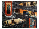Cross-Section of a Coal Mine Giclee Print by Ignace Francois Bonhomme