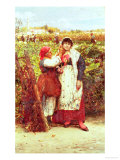 Peasants in a Vineyard Giclee Print by Luigi Nono