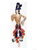 "Nijinsky's Costume in Ballet ""Scheherazade"" by Rimsky-Korsakov Choreographed by Michel Fokine 1910 Giclee Print by Leon Bakst"