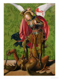 St. Michael Killing the Dragon Giclee Print by Josse Lieferinxe