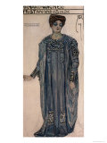 Copy of a Costume Design for Isolde Giclee Print by Alfred Roller