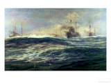 1st Battle Squadron of Dreadnoughts Steaming Down the Channel in 1911 Giclee Print by William Lionel Wyllie