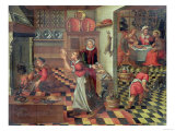 Interior of the Kitchen, the Supper at Emmaus Giclee Print