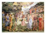 The Adoration of the Golden Calf, from the Sistine Chapel Giclée-tryk af Cosimo Rosselli