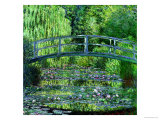 The Waterlily Pond: Green Harmony, 1899 Gicléedruk van Claude Monet