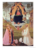 Virgin in Glory with St. Gregory and St. Benedict Giclee Print by Bernardino di Betto Pinturicchio