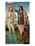 The Baptism of Christ, 1486 Gicle-tryk af Guidoccio Cozzarelli
