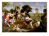 The Hunt of Diana, 1616-17 Giclée-tryk af Domenichino