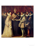 The Marriage of Catherine de Medici and Henri II 1533 Giclée-tryk af Jacopo da Empoli