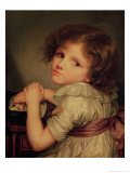 Child with a Doll Giclee Print by Anne Genevieve Greuze