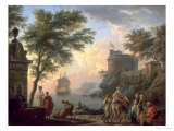 Seaport, 1763 Gicl&#233;e-Druck von Claude Joseph Vernet