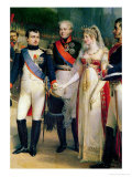 Napoleon Bonaparte Receiving Queen Louisa of Prussia at Tilsit, 6th July 1807, 1837 Giclee Print by Nicolas Louis Francois Gosse